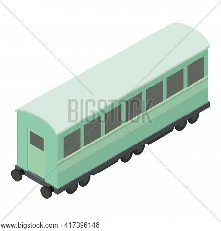Passenger Wagon Icon. Isometric Of Passenger Wagon Vector Icon For Web Design Isolated On White Back
