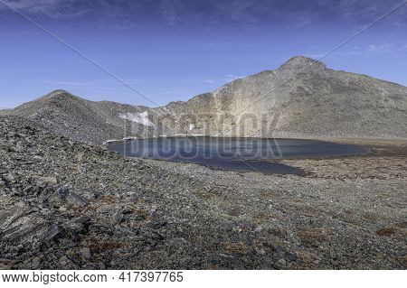 View Of Pacific Tarn And The Ridge To Pacific Peak Summit