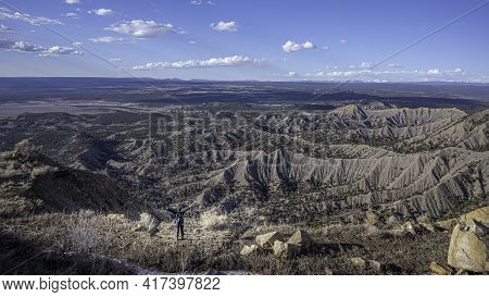 Hiking Views From Knifes Edge Trail In Mesa Verde National Park, Colorado, Usa. Spring Time.