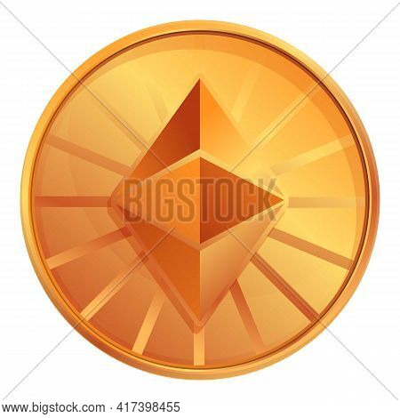 Ethereum Classic Cryptocurrency Icon. Cartoon Of Ethereum Classic Cryptocurrency Vector Icon For Web