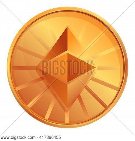 Ethereum Classic Cryptocurrency Icon. Cartoon Of Ethereum Classic Cryptocurrency Vector Icon For Web