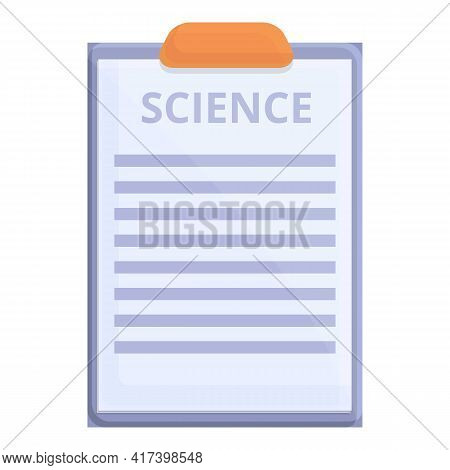 Science Board Icon. Cartoon Of Science Board Vector Icon For Web Design Isolated On White Background