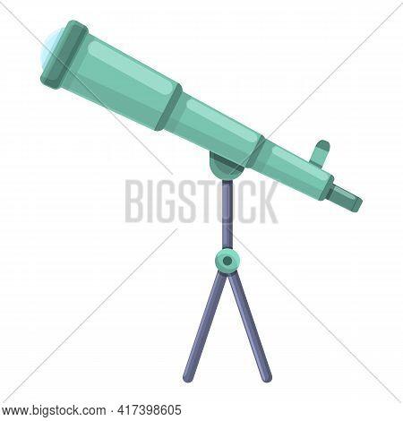 Modern Telescope Icon. Cartoon Of Modern Telescope Vector Icon For Web Design Isolated On White Back
