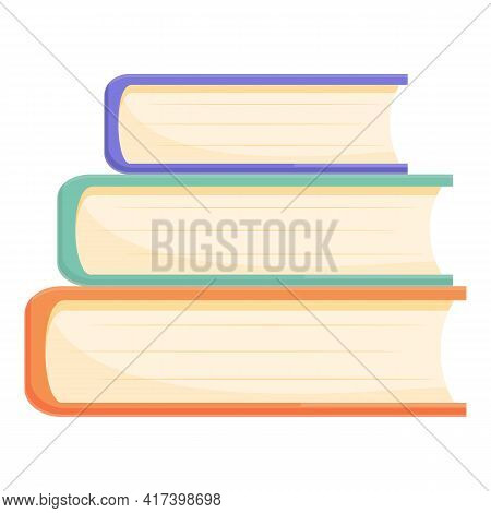 Scientist Book Stack Icon. Cartoon Of Scientist Book Stack Vector Icon For Web Design Isolated On Wh