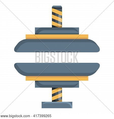 Press Form Machine Icon. Cartoon Of Press Form Machine Vector Icon For Web Design Isolated On White