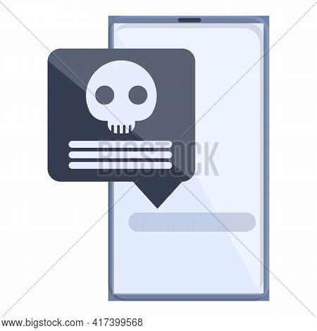 Smartphone Malware Icon. Cartoon Of Smartphone Malware Vector Icon For Web Design Isolated On White