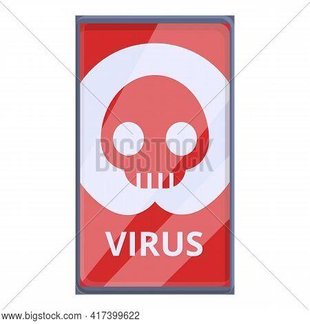 Virus Malware Smartphone Icon. Cartoon Of Virus Malware Smartphone Vector Icon For Web Design Isolat