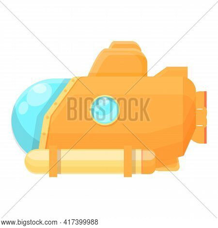 Guard Submarine Icon. Cartoon Of Guard Submarine Vector Icon For Web Design Isolated On White Backgr