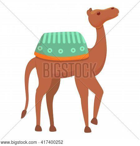 Desert Camel Icon. Cartoon Of Desert Camel Vector Icon For Web Design Isolated On White Background