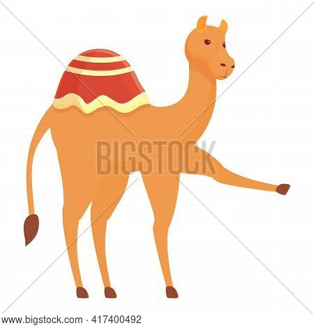 Dust Camel Icon. Cartoon Of Dust Camel Vector Icon For Web Design Isolated On White Background