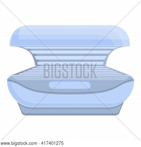 Solarium Open Bed Icon. Cartoon Of Solarium Open Bed Vector Icon For Web Design Isolated On White Ba