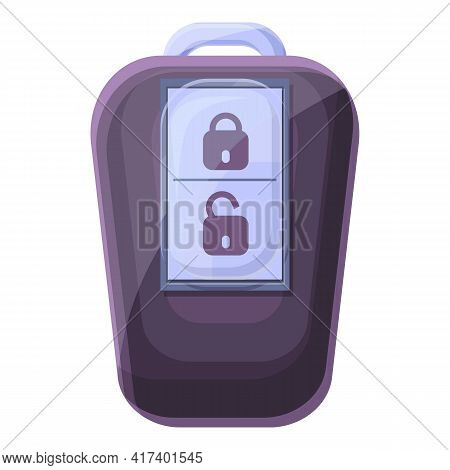 Caution Smart Car Key Icon. Cartoon Of Caution Smart Car Key Vector Icon For Web Design Isolated On