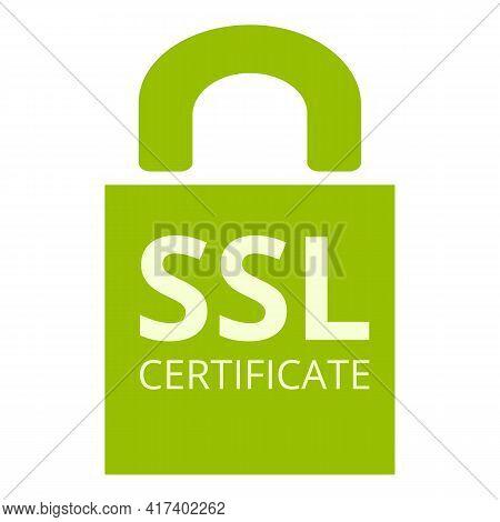 Solution Ssl Certificate Icon. Cartoon Of Solution Ssl Certificate Vector Icon For Web Design Isolat