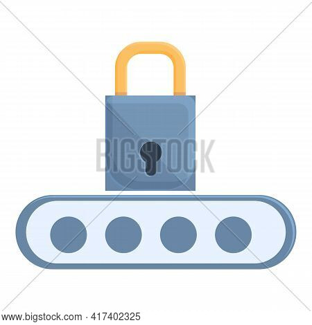 Safety Password Protection Icon. Cartoon Of Safety Password Protection Vector Icon For Web Design Is