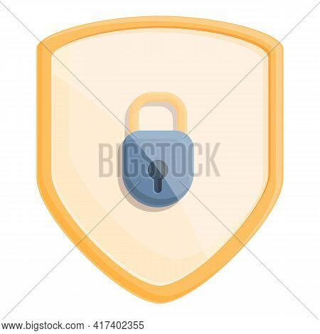 Shield Password Protection Icon. Cartoon Of Shield Password Protection Vector Icon For Web Design Is