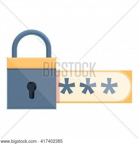 Account Password Protection Icon. Cartoon Of Account Password Protection Vector Icon For Web Design