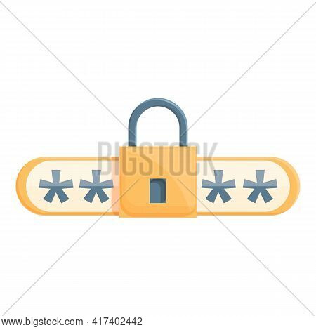 Guard Password Protection Icon. Cartoon Of Guard Password Protection Vector Icon For Web Design Isol