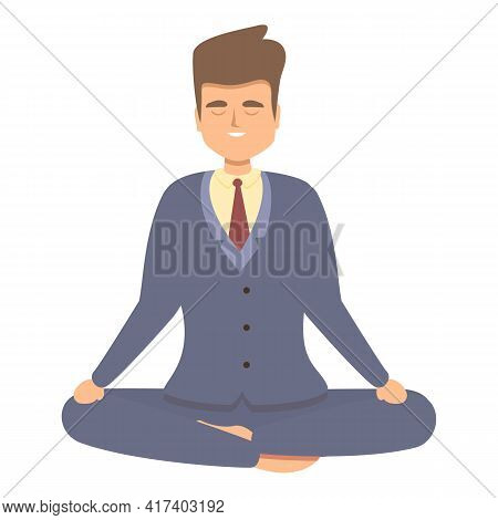 Focus Meditation Icon. Cartoon Of Focus Meditation Vector Icon For Web Design Isolated On White Back
