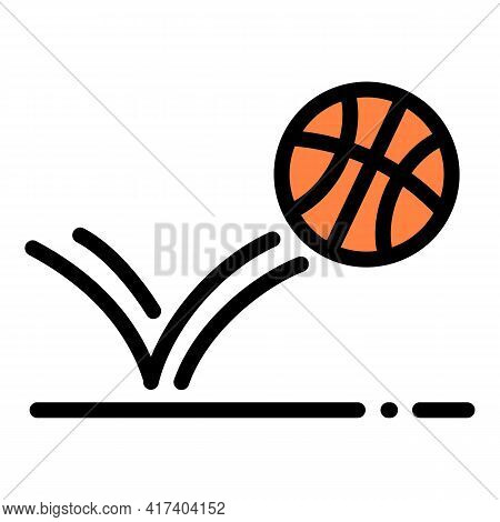 Basketball Throw Ball Icon. Outline Basketball Throw Ball Vector Icon For Web Design Isolated On Whi
