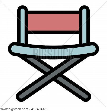Movie Chair Director Icon. Outline Movie Chair Director Vector Icon For Web Design Isolated On White