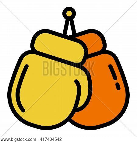 Boxing Gloves Icon. Outline Boxing Gloves Vector Icon For Web Design Isolated On White Background