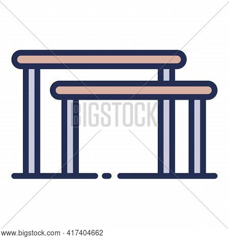 Gymnastics Uneven Bars Icon. Outline Gymnastics Uneven Bars Vector Icon For Web Design Isolated On W
