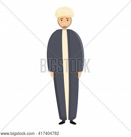 Muslim Priest Icon. Cartoon Of Muslim Priest Vector Icon For Web Design Isolated On White Background