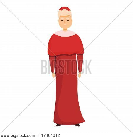 Priest Cardinal Icon. Cartoon Of Priest Cardinal Vector Icon For Web Design Isolated On White Backgr