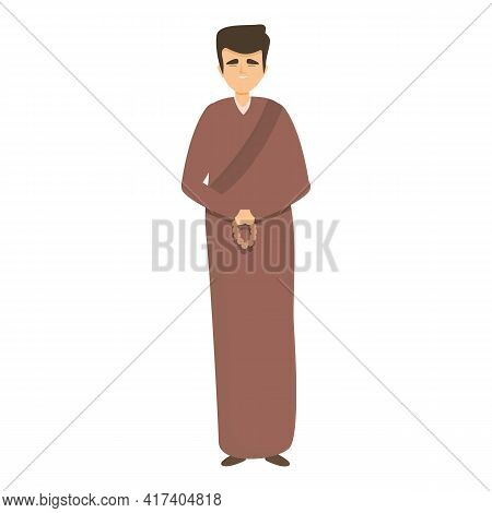Hindu Priest Icon. Cartoon Of Hindu Priest Vector Icon For Web Design Isolated On White Background