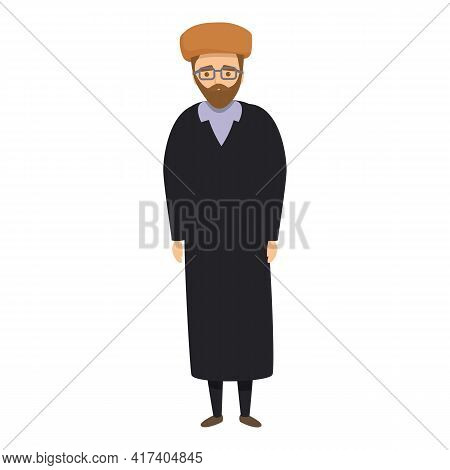 Islamic Priest Icon. Cartoon Of Islamic Priest Vector Icon For Web Design Isolated On White Backgrou