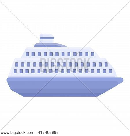 Ferry Steamer Icon. Cartoon Of Ferry Steamer Vector Icon For Web Design Isolated On White Background