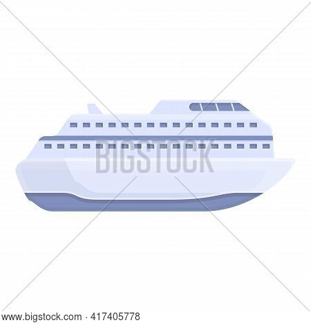 Ocean Cruise Icon. Cartoon Of Ocean Cruise Vector Icon For Web Design Isolated On White Background