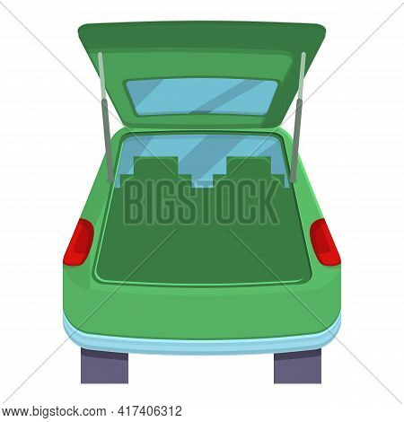 Hatchback Trunk Car Icon. Cartoon Of Hatchback Trunk Car Vector Icon For Web Design Isolated On Whit