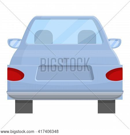 Family Trunk Car Icon. Cartoon Of Family Trunk Car Vector Icon For Web Design Isolated On White Back