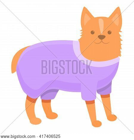 Violet Dog Clothes Icon. Cartoon Of Violet Dog Clothes Vector Icon For Web Design Isolated On White