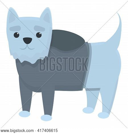 Canine Dog Clothes Icon. Cartoon Of Canine Dog Clothes Vector Icon For Web Design Isolated On White
