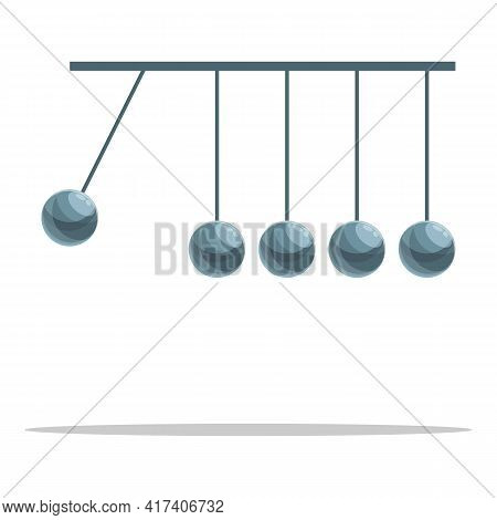 Perpetual Motion Newton Balls Icon. Cartoon Of Perpetual Motion Newton Balls Vector Icon For Web Des