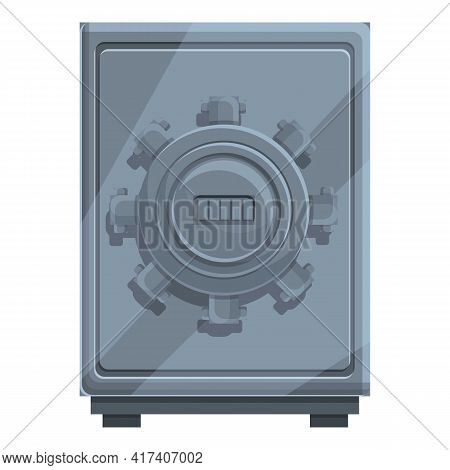 Cipher Steel Safe Icon. Cartoon Of Cipher Steel Safe Vector Icon For Web Design Isolated On White Ba