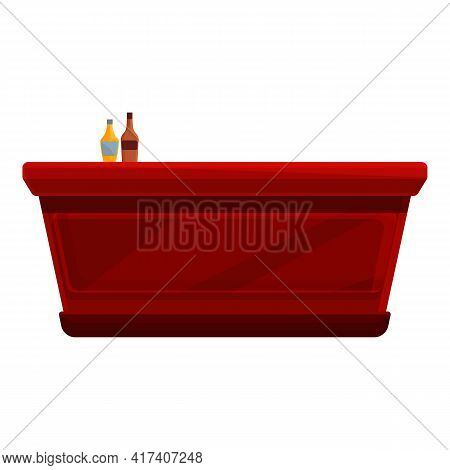 Beer Bar Counter Icon. Cartoon Of Beer Bar Counter Vector Icon For Web Design Isolated On White Back