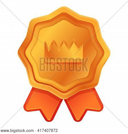 Ranking Crown Emblem Icon. Cartoon Of Ranking Crown Emblem Vector Icon For Web Design Isolated On Wh