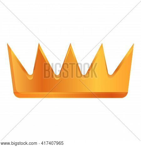 Gold Crown Ranking Icon. Cartoon Of Gold Crown Ranking Vector Icon For Web Design Isolated On White