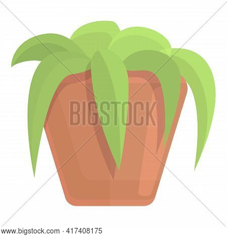 Decorative Plant Pot Icon. Cartoon Of Decorative Plant Pot Vector Icon For Web Design Isolated On Wh