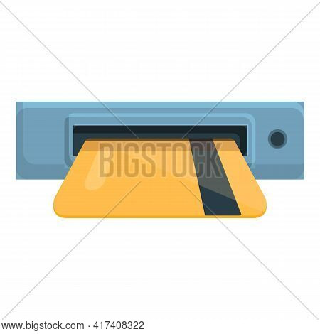 Paid Parking Card Icon. Cartoon Of Paid Parking Card Vector Icon For Web Design Isolated On White Ba