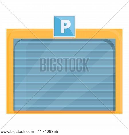 Paid Parking Garage Icon. Cartoon Of Paid Parking Garage Vector Icon For Web Design Isolated On Whit