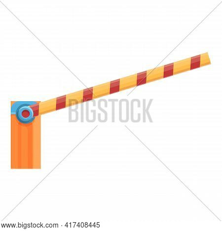 Parking Barrier Icon. Cartoon Of Parking Barrier Vector Icon For Web Design Isolated On White Backgr