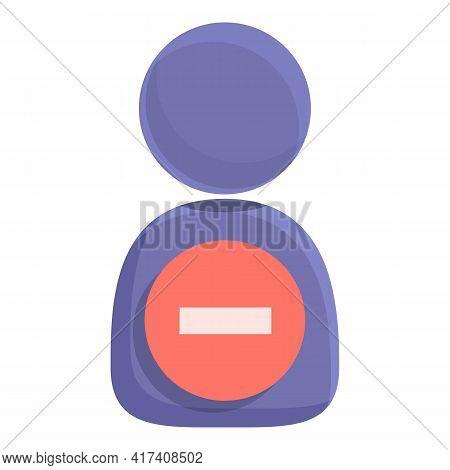 Delete User Permanently Icon. Cartoon Of Delete User Permanently Vector Icon For Web Design Isolated