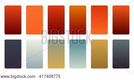 Precious Color Gradients Swatch Set Design Vector Illustration