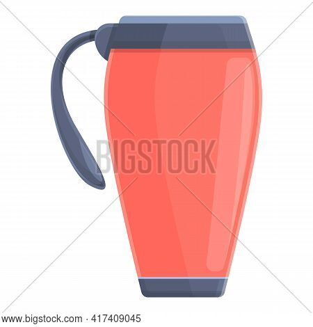Vacuum Mug Icon. Cartoon Of Vacuum Mug Vector Icon For Web Design Isolated On White Background