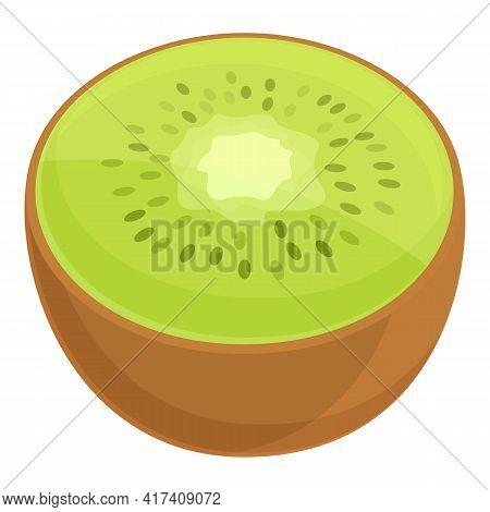 Kiwi Vitamin Icon. Cartoon Of Kiwi Vitamin Vector Icon For Web Design Isolated On White Background