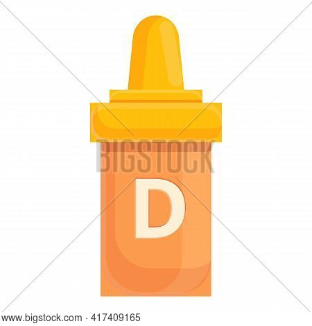 Serum Vitamin D Icon. Cartoon Of Serum Vitamin D Vector Icon For Web Design Isolated On White Backgr